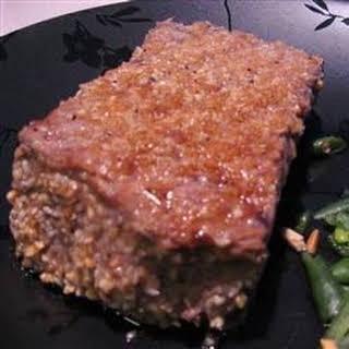 Peanut Sesame Rib-Eye Steak.