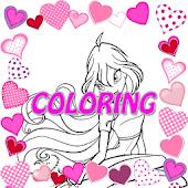 Angel Club Coloring