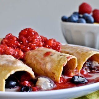 Fresh Fruit Enchiladas.