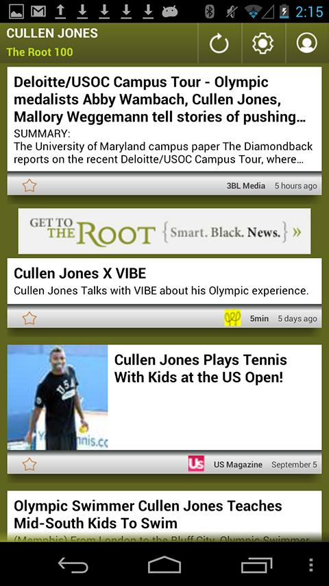 Cullen Jones: The Root 100 - screenshot