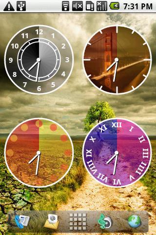 Androidlet Clock Widget- screenshot