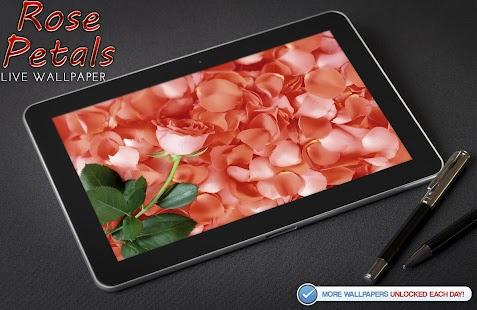 玫瑰花瓣動態壁紙