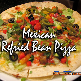 Mexican Refried Bean Pizza