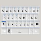 White and Blue Keyboard Skin icon