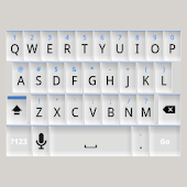 White and Blue Keyboard Skin