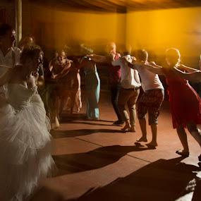 Party action by Béanca Van Heerden - Wedding Reception ( reception, line dancing, flash flood )