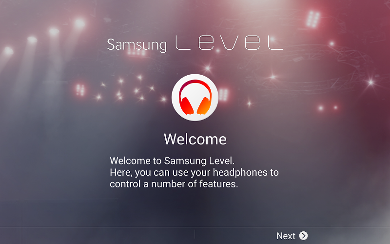 Samsung Level for Tablet Android App Screenshot