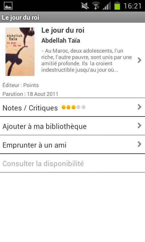 MobiLitté - screenshot