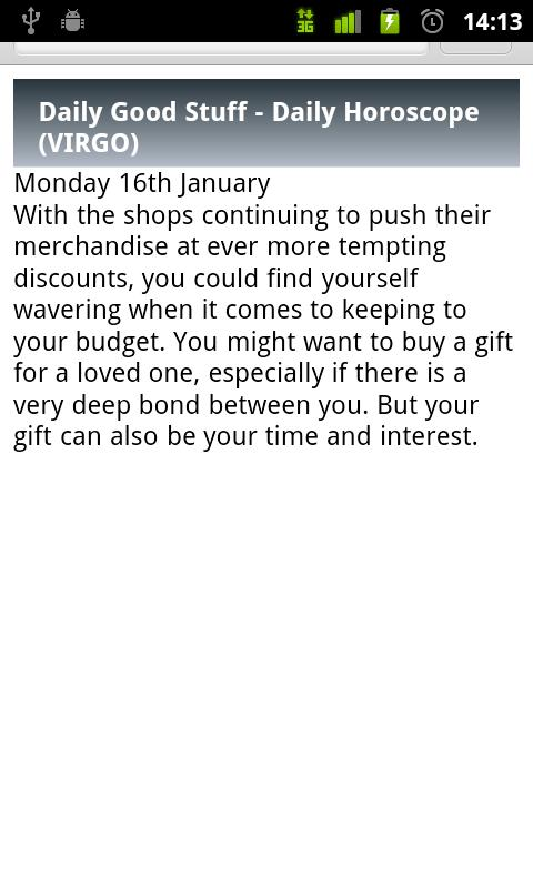 Virgo Daily Horoscope - screenshot