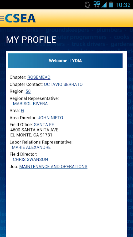 CSEA - screenshot