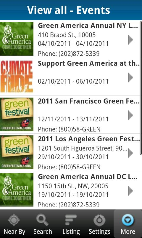 National Green Pages - screenshot