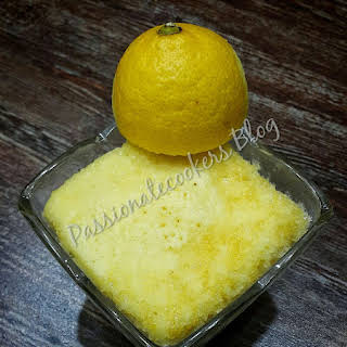 Microwave Lemon Cake.