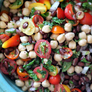 Middle Eastern Chickpea & Black Bean Salad.