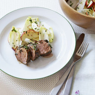 Herby Pork With Apple & Chicory Salad