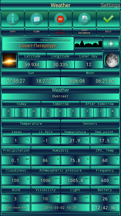 ClimatSens - screenshot