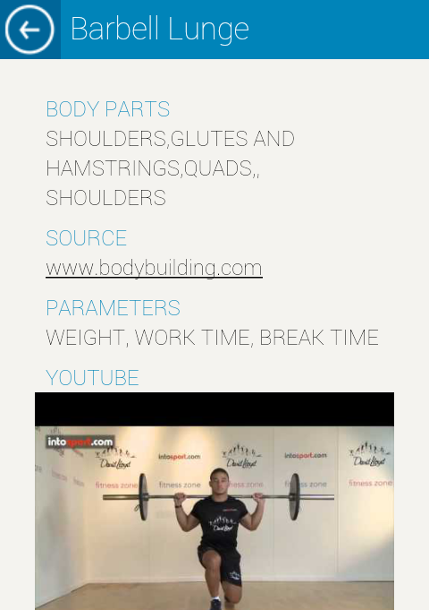 Gym Navigator Worklog- screenshot