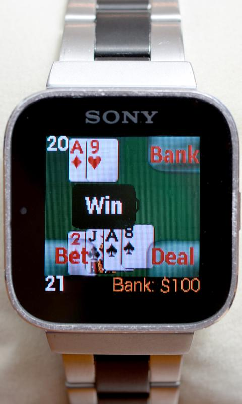 Blackjack for SmartWatch- screenshot