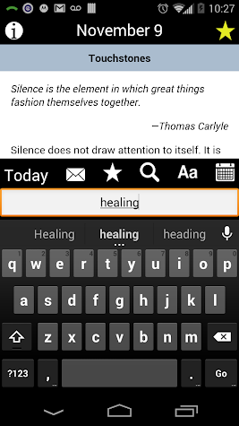 Touchstones Screenshot