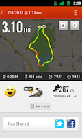 Screenshot of Nike+ Running