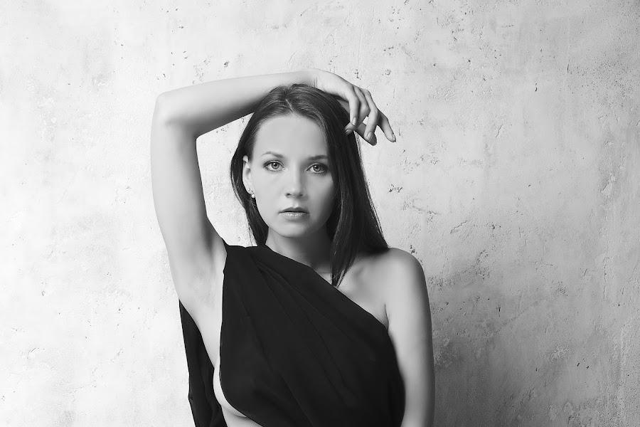 black dress by Carl0s Dennis - People Portraits of Women ( studio, woman, black dress, portrait, b&w, person,  )