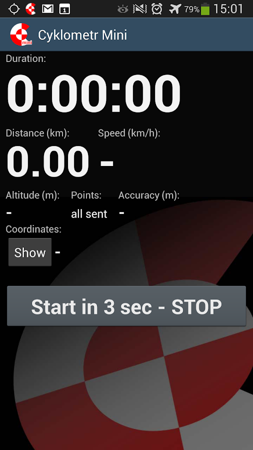 Cyclometer Mini- screenshot