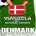 DENMARK VUVUZELA and ANTHEM! logo