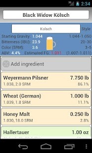 BrewR - Beer Recipe Manager Screenshot
