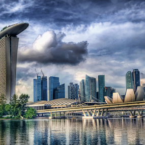 Marina Bay Singapore by William Cho - Buildings & Architecture Architectural Detail ( hdr, artsciencemuseum, mbfc, rendition, topazlab adjust, cityscape, marina bay financial centre, marina bay, singapore )