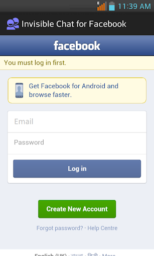 Invisible Chat for Facebook 1.5 screenshots 3