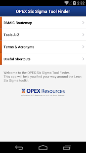 Lean Six Sigma Tool Finder – Miniaturansicht des Screenshots