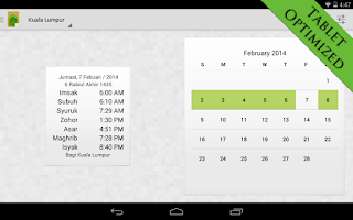 Screenshot of MySolat - Malaysia Prayer Time
