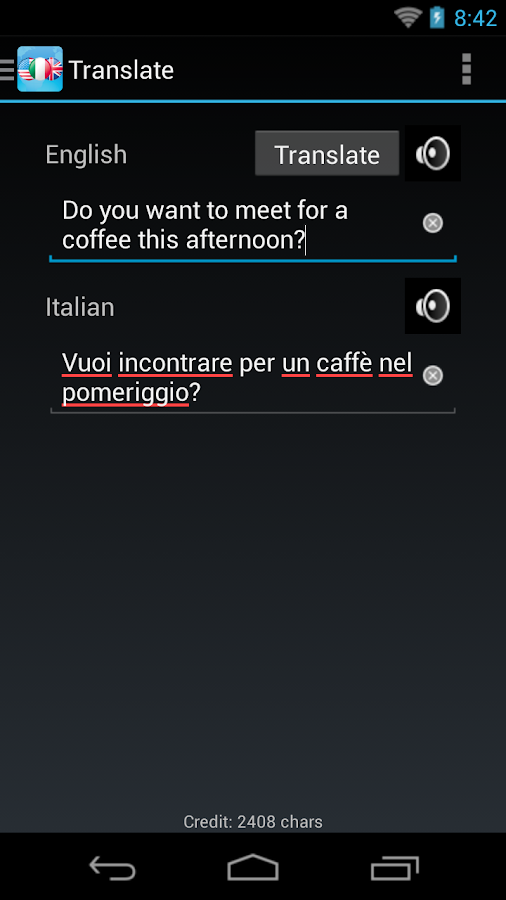 Italian English Dictionary - screenshot