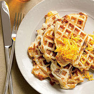 Grilled Cheese-and-Chicken-Sausage Waffles.