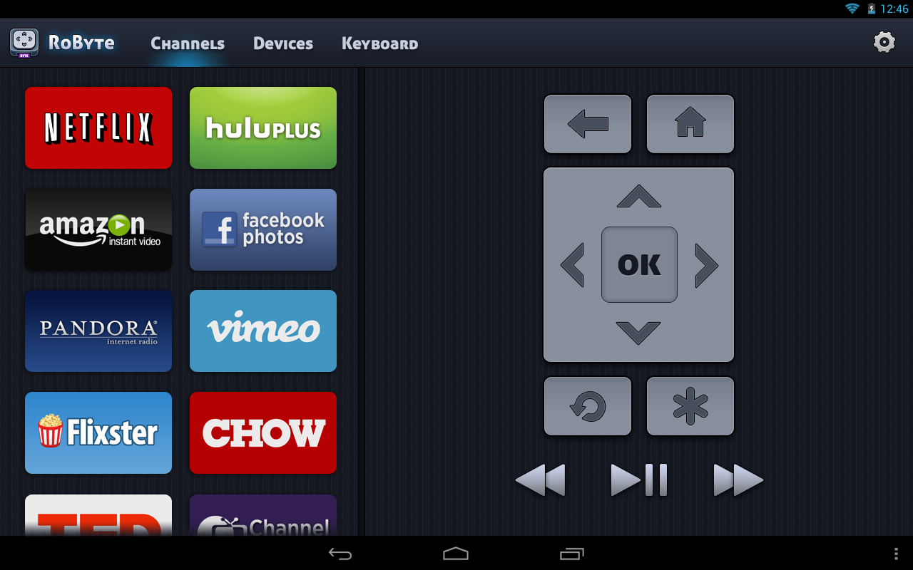 RoByte - Remote for Roku - screenshot
