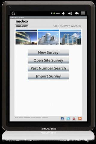 Site Survey Wizard - screenshot