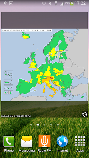 Alarm Weather - EUROPE
