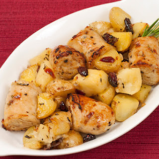 Roasted Chicken Sausage with Apples and Potatoes