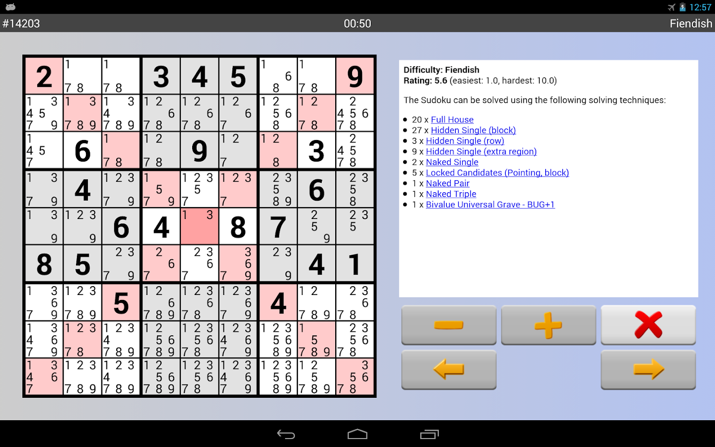 Sudoku Grab'n'Play Plus- screenshot