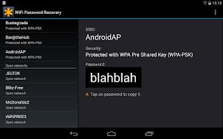 Screenshot of WiFi Passwords Pro