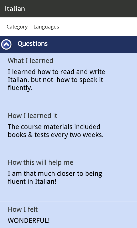 Cheetah Learning Journal - screenshot