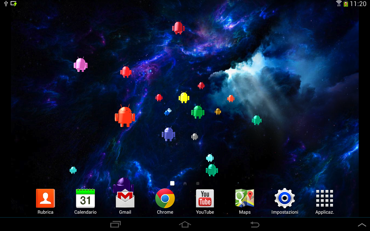 Droid Invasion 3D-Wallpaper- screenshot
