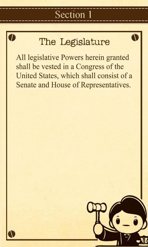 Constitution for Kids - screenshot