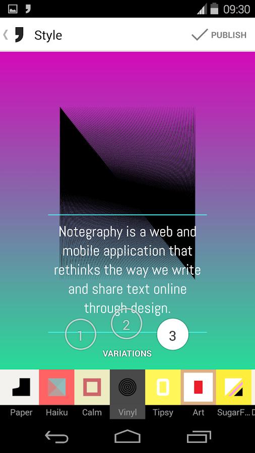 Notegraphy - screenshot