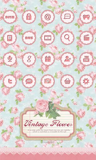 Vintage flower icon Theme