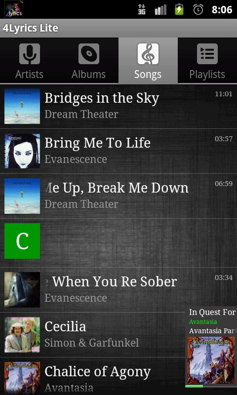 4Lyrics Lite - screenshot