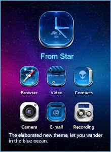 GALAXY COMET 3D LAUNCHER THEME screenshot 1