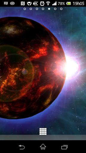 惑星火災3Dライブ壁紙