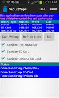 Screenshot of Secure Wipe