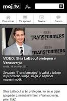 Screenshot of Moj TV Slovenija