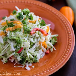 Cabbage and Bell Pepper Salad.
